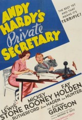 Личный секретарь Энди Гарди (1941), постер 1